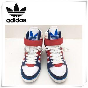 Adidas JS Wings Women's Sky High Wedge Sneakers Blue Black